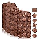 Backformen aus Silikon zum Backen, Bonbons und Schokolade: Kleine flexible Form für harte oder...