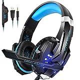 INSMART PC Gaming Over-Ear Gaming-Kopfhörer mit Mikrofon LED-Licht Noise Canceling...