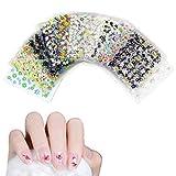 Haokey 50 Blätter 3D Design Nagel Sticker, 3D Nail Art Sticker Aufkleber Selbstklebende Aufkleber...
