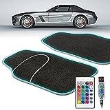 Walser LED-Autoteppich Ambiente, Fußmatten mit LED-Band, Auto-Fußteppich mit LED-Licht,...