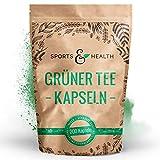 Grüner Tee Kapseln - 1.000 mg pro Tagesdosierung - 200 Kapseln - Vegan - Qualität Der Grüner Tee...
