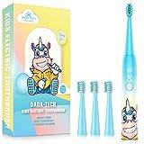 Elektrische Zahnbürste Kinder Wiederaufladbare, Ultraschall kinderzahnbürste mit Timer mit...