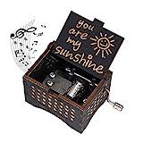 Hölzerne Spieluhr You Are My Sunshine Handkurbel Spieluhren Antike Geschnitzte Musik Box Holz für...