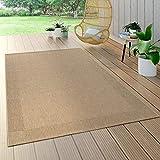 Paco Home In- & Outdoor Flachgewebe Teppich Sisal Optik Natürlicher Look Einfarbig Beige,...