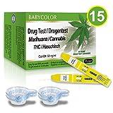15 x THC Urintest Kits, Schnelltest Heimtest mit 15 Urin-Tasse, Cut-off - 50 ng/ml