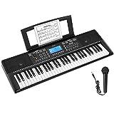 Donner 61 Tasten Tastatur Klavier, Electronic Keyboard Digital Piano mit Notenblattständer und...