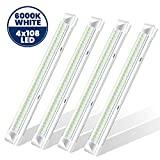 LED Deckenleuchte Röhre Licht, 108 LED Deckenleuchte Werkstatt - 9W 900LM Deckenleuchten LED, 34cm...