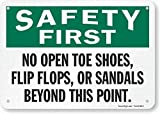 VinMea Safety First – No Open Toe Shoes, Flip Flops, Or Sandals Beyond This Point...