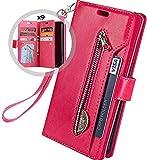 Kompatibel mit Samsung Galaxy A70 Leder Hülle,URFEDA Handytasche Schutzhülle Tasche Case [ 9...