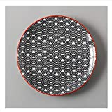 Pottery Teller/Dessertteller, Keramik, handbemalt, Grau gesprenkelt, Salat-/Obstteller,...