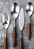 Treslin tafelmesser besteck,Edelstahl Besteck Lffel High-End-Western Geschirr Set Haushaltssteak...