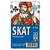 Ravensburger Spielkarten 27003 - Klassisches Skatspiel, Französisches Bild, 32 Karten in...