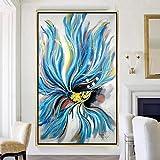 Abstrakt blau Goldfisch lgemlde Leinwand Kunst lgemlde Geschenk Dekoration Wohnzimmer Wanddekoration...