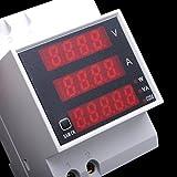 MASUNN Ac Volt Meterr Amperemeter Din Rail LED Digital Multifunktion