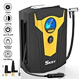 SKEY Luftkompressor 12V 150PSI Auto Luftpumpe Tragbare Reifen Inflator mit LED-Lichter Digital...