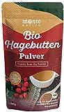 Bio Hagebuttenpulver 1kg (1000g) Monte Nativo - gemahlene Hagebutten - 100% Bio Hagebuttenmehl mit...
