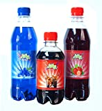 Blaue Himbeer-Erdbeer-Slushie-Sirup, mit freiem Cola-Flavour-Sirup macht Eisgetränke, Schneekegel,...