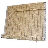 Zairmb Sichtschutz Schilfrollos mit Volant Sonnenschutz Natur Holzrollo Handgewebt Bambusjalousien...