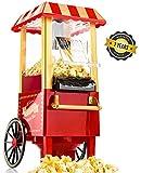 Gadgy Popcorn Maschine   Retro Popcorn Maker   Heissluft Ohne Fett Fettfrei lfrei