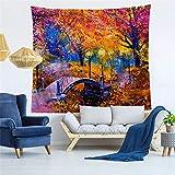 Sunflower Wald Muster Tapisserie Wandbehang Indian Wand-Dekor-Hippie-Tapisserien Wurfblatt Strand...