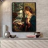 N / A Liebesbilder Portrtplakate und lgemlde auf Leinwand Wohnzimmer Wandgemlde Rahmenlose Malerei...