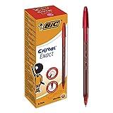 BIC Cristal Exact Kugelschreiber, feine Spitze, 0,7 mm, Rot, 20 Stück