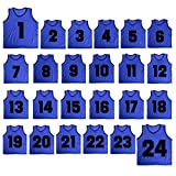 TopTie Basketball-Trikot Nr. 1 bis 24, Nylon, Netzgewebe, leicht, FITK-DK77103_NAVYBLUE-Child,...