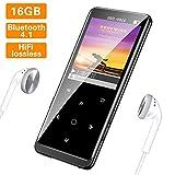 SuperEye MP3 Player 16GB Bluetooth 4.1 mit Kopfhörer,1.8 Zoll TFT Bildschirm MP3 Player mit FM...