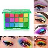 UCANBE 15 Farben Lidschatten-Palette, Shimmer Glitter Matte Neon Make-up-Palette Hochpigmentierte...