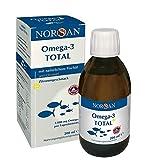 Omega-3 Total Zitrone I NORSAN I EPA reiches Omega-3 Öl I Fischöl I 200 ml Flasche I 2.000 mg...
