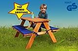 Pro-Manufactur Stabile Kinder-Sitzgruppe fr 4 inkl.Polsterauflagen lasiert