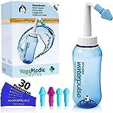 Nasendusche Set 300ml YogaMedic - 30x Nasensplsalz 100% aus Deutschland - 4 Aufstze zur effektiven...