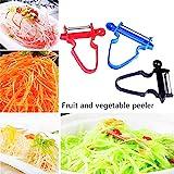 HKBTCH Obst, Gemüse, Julienne, für schnelleglattes Magic Trio Sparschäler