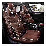 QRFDIAN Autositzbezug |PU-Leder Auto Sitzbezug-Set |Vorder- und Rückseite 5 Sitz voller Satz von...
