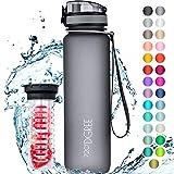 720DGREE Trinkflasche uberBottle +Frchtebehlter - 1L - BPA-Frei - Wasserflasche fr Uni, Sport,...