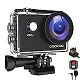 GOOKAM Go 2 Action Cam 4K 20MP Unterwasserkamera 40M Wasserdicht Kamera Actionkamera WiFi Helmkamera...