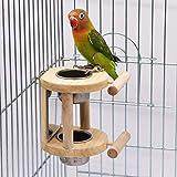 Vogelfutterstation für Vögel, Edelstahl, Futterschüssel für Papageienkäfig, Ständer
