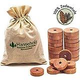 Hanseholz 40x Natrlicher Bio Mottenschutz und Baumwollbeutel - 100% Bio Naturprodukt - Langlebige...