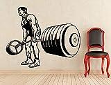 Tianpengyuanshuai Bodybuilding Aufkleber Vinyl Aufkleber Home Art Deco Gewichtheben Fitnessstudio...