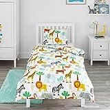 Bloomsbury Mill - Safari-Abenteuer  Dschungeltiere - Bettwscheset fr Kinder - Bettbezug 135cm x...