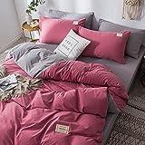 Rebily Gitter Stil Mode Frischer Wash Cotton Vierteilige Anzug Nordic Art Schlafsaal mit Einzelbett...
