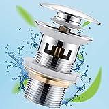 Universal Ablaufgarnitur mit Überlauf für Waschbecken & Waschtisch Chrom Pop Up Ventil...
