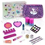 Anpro 15Stk Make-up-Set, Schminkset für Mädchen, waschbar Kosmetik Schminkspielzeug für Kinder...