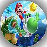 Fondant Tortenaufleger Tortenbild Geburtstag Super Mario T6