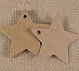 yuxue Dekoartikel Geschenk Saisonale 50Pcs 6 * 6Cm Mehrzweck Star Kraftpapier Hochzeit Label Party...