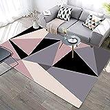 YQZS Wohnzimmer-Teppich Polypropylen Teppich mit Graue unregelmäßige Geometrie für Wohnzimmer,...