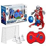 hinffinity Kinder Fußballroboter 2,4 GHz Drahtlose Fernbedienung Roboter Mit 2 Fußballtore Und Und...