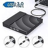 Rwen Externes DVD-Laufwerk High Speed USB 3.0 CD-DVD-Laufwerk Für Laptop-Desktop Tragbaren...