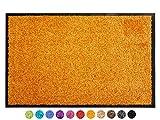 Primaflor - Ideen in Textil Schmutzfangmatte CLEAN – Orange 90x150 cm, Waschbare, rutschfeste,...
