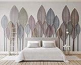QINMH Dekorative Blätter aus Schmiedeeisen, Vintage, 3D-Tapete, Wanddekoration 160x120cm